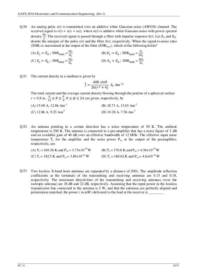 Pdf gate paper 2016 question