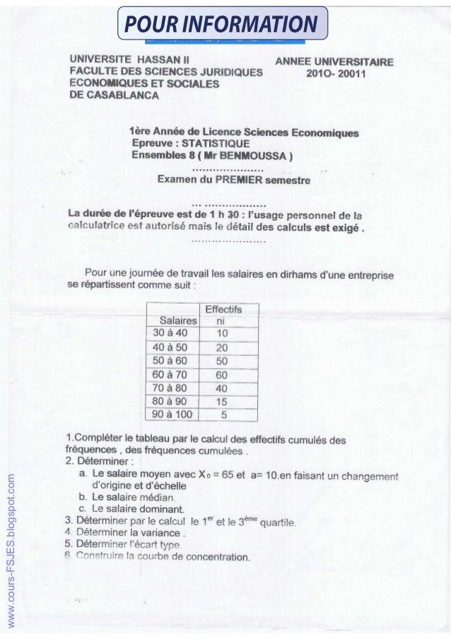 S1 examens statistiques_descriptives_semestre 1 www.cours-fsjes.com
