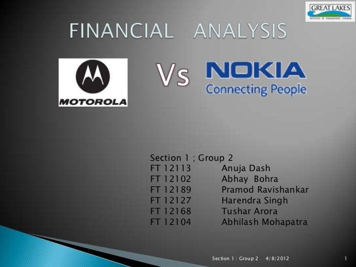 Section 1 ; Group 2FT 12113        Anuja DashFT 12102        Abhay BohraFT 12189        Pramod RavishankarFT 12127        ...