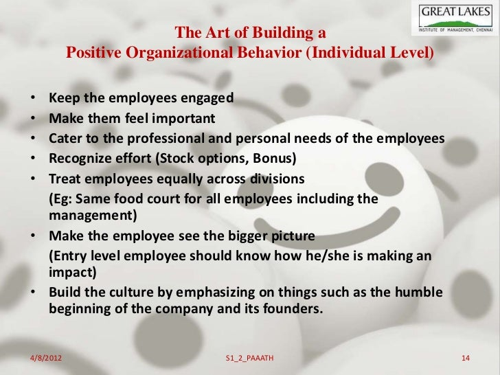 Positive organizational behavior: an idea whose time has truly come