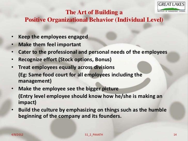Positive organizational behavior: an idea whose time has truly come