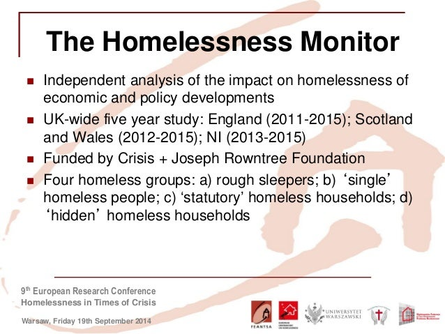 an analysis of the hidden homeless Growing numbers of women in england are experiencing 'hidden homelessness' – living in precarious arrangements without privacy or their own legal living new european level analysis, highlighted in a new book women's homelessness in europe, point to growing evidence that women often react to.