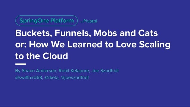 Buckets, Funnels, Mobs and Cats or: How We Learned to Love Scaling to the Cloud By Shaun Anderson, Rohit Kelapure, Joe Szo...