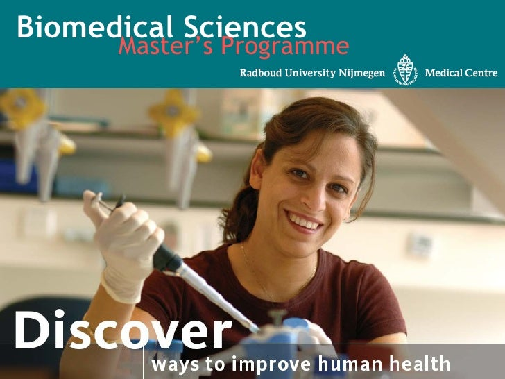Master's Programme Biomedical Sciences