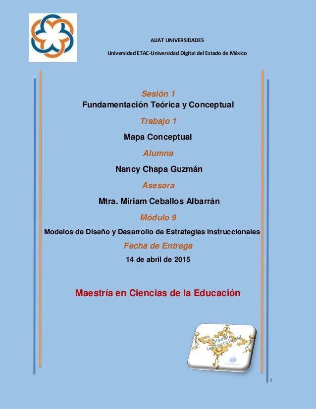 1 ALIAT UNIVERSIDADES Universidad ETAC-Universidad Digital del Estado de México Sesión 1 Fundamentación Teórica y Conceptu...