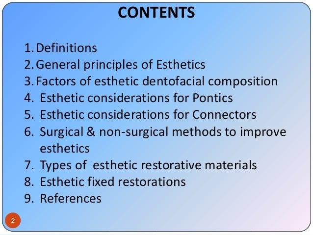 Esthetics in FPD Slide 2