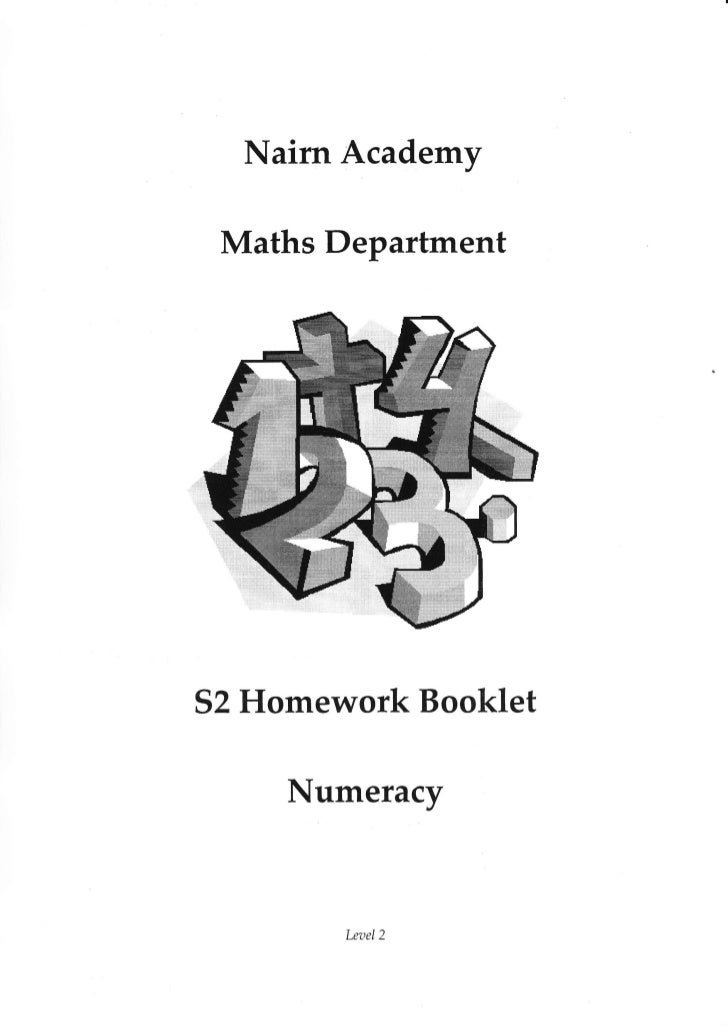 "Nairn Academy Maths D""partment32 Homework Booklet     Numeracy        Leael2"