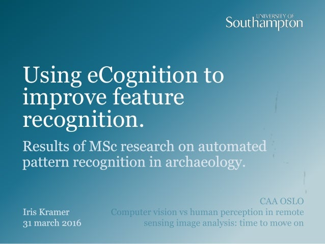 Using eCognition to improve feature recognition.