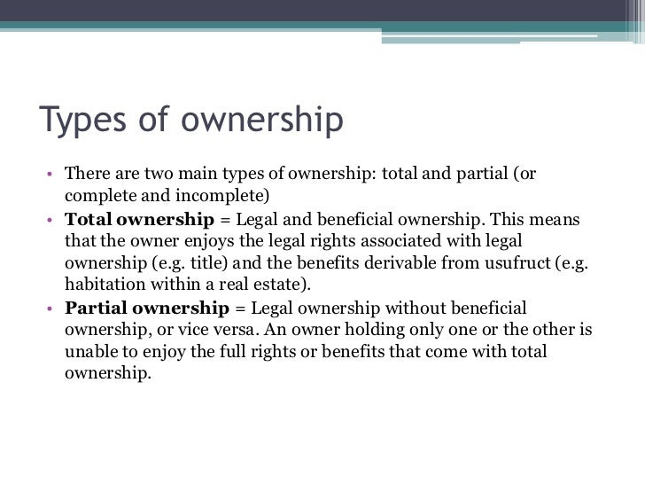 types of ownership