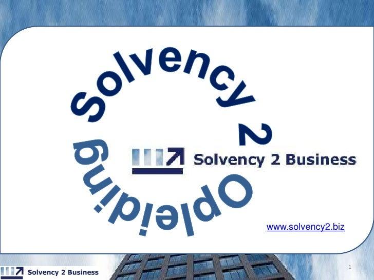 1<br />Solvency 2Opleiding<br />www.solvency2.biz<br />