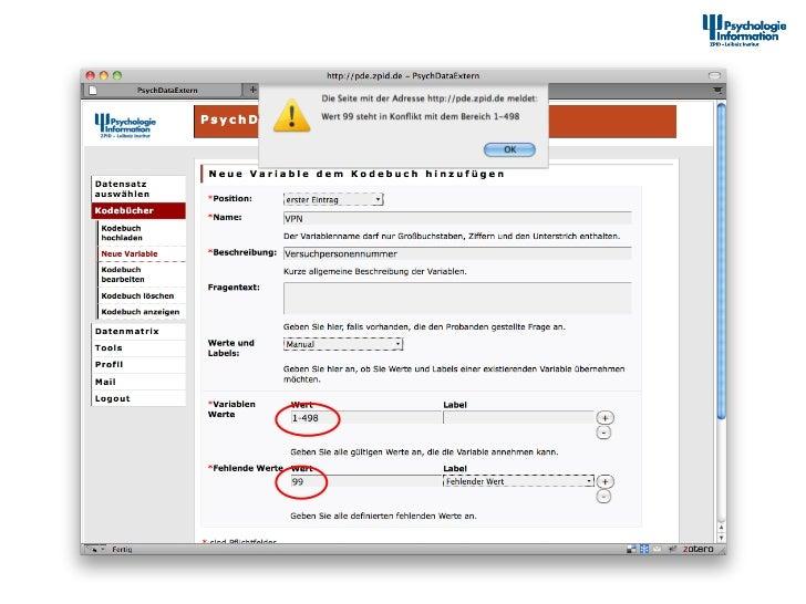 Dokumenta2onstool – Neue Variable zum Kodebuch hinzufügen                     12th Interna+onal Symposiu...