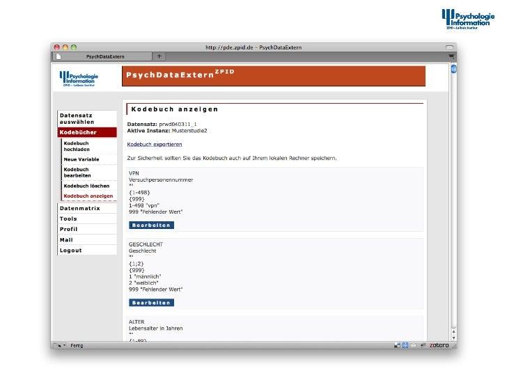 Dokumenta2onstool – Kodebuch anzeigen                    12th Interna+onal Symposium of  Informa+on Sc...