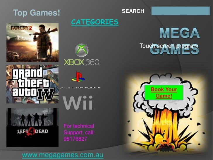 SEARCH Top Games!                 CATEGORIES                                     Touch screen program                     ...