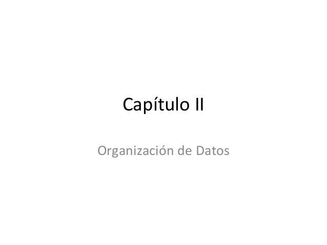 Capítulo IIOrganización de Datos