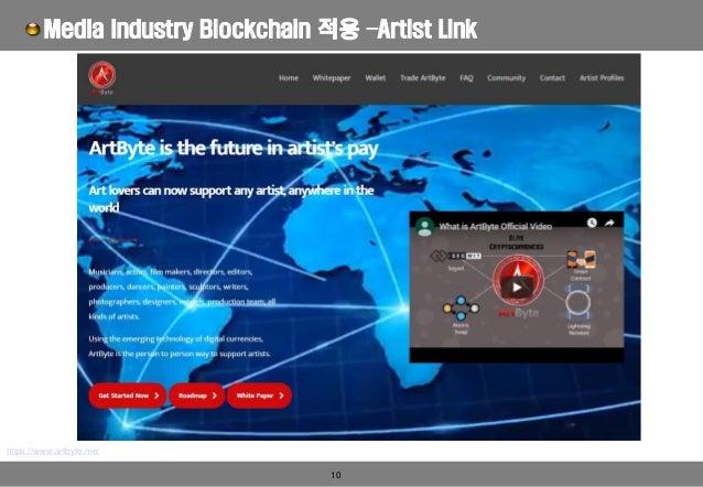 10 Media Industry Blockchain 적용 –Artist Link https://www.artbyte.me/