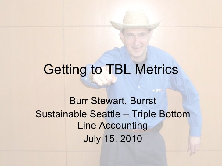 Getting to TBL metrics