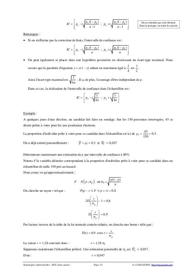 Estimation s3 - Table de la loi normale centree reduite ...