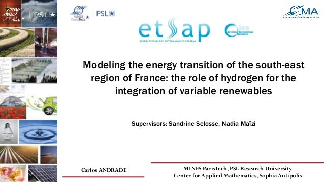 Modeling the energy transition of the south-east region of France: the role of hydrogen for the integration of variable re...