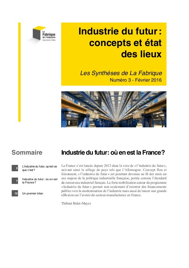 Industrie du futur concepts et tat des lieux for Salon industrie du futur