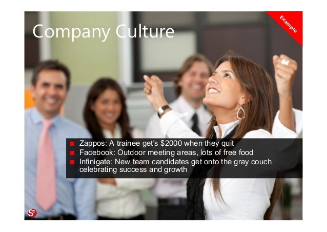 19© Copyright Society3 Refugee Accelerator 2016 #Society3 Company Culture Zappos: A trainee get's $2000 when they quit Fac...