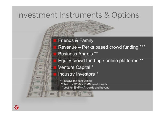 80© Copyright Society3 Refugee Accelerator 2016 #Society3 Investment Instruments & Options Friends & Family Revenue – Perk...