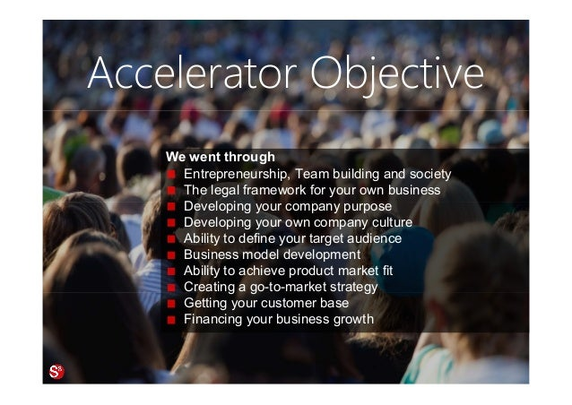 85© Copyright Society3 Refugee Accelerator 2016 #Society3 Accelerator Objective We went through Entrepreneurship, Team bui...