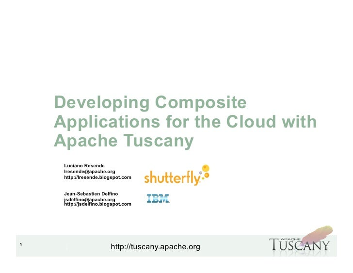 S314011 - Developing Composite Applications for the Cloud with Apache Tuscany