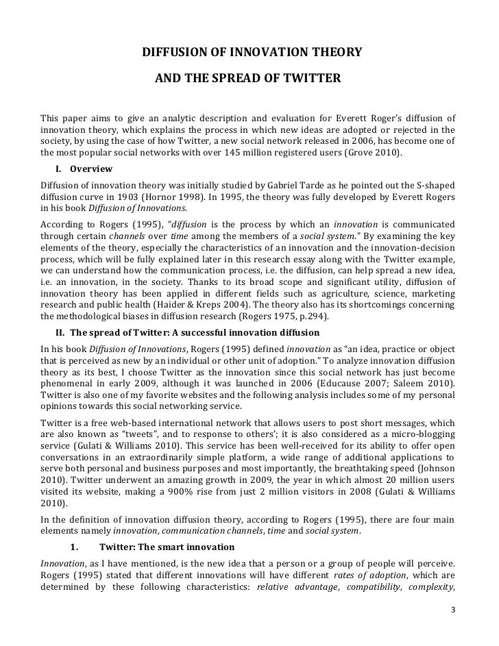 research essay about the sp of twitter using diffusion of innovat  8 2 3