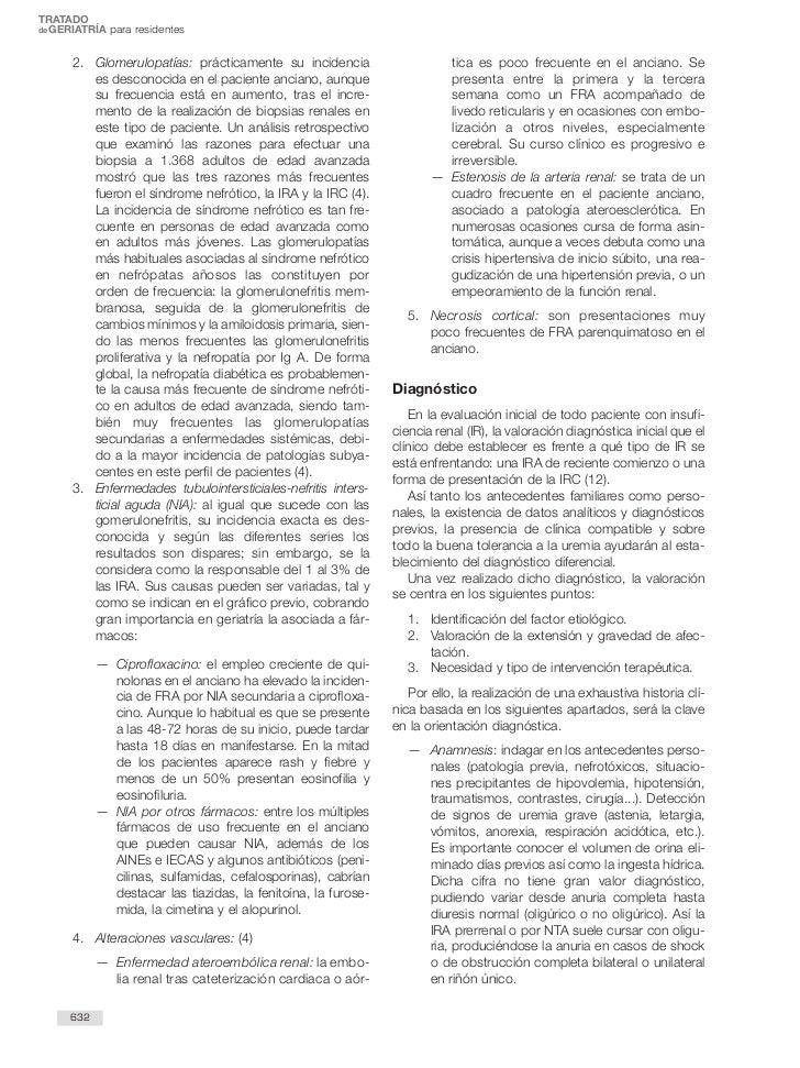 TRATADOde GERIATRÍA para residentes      2. Glomerulopatías: prácticamente su incidencia                    tica es poco f...