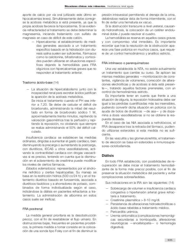 Situaciones clínicas más relevantes. Insuficiencia renal agudaaporte de calcio por vía oral (utilizado este último en     ...