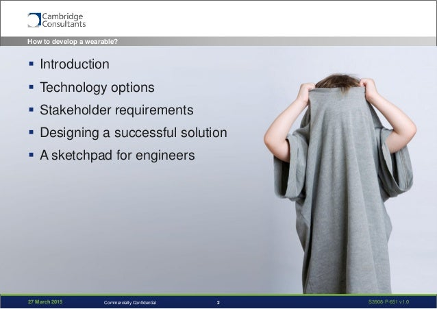 How to develop a novel wearable product?    Slide 2