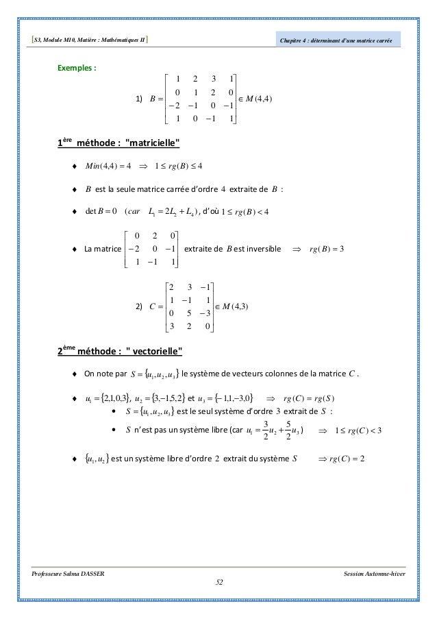 s3 algebre i polycopie du cours