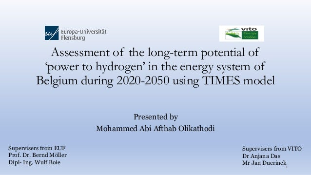 Assessment of the long-term potential of 'power to hydrogen' in the energy system of Belgium during 2020-2050 using TIMES ...