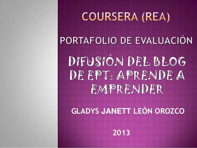 GLADYS JANETT LEÓN OROZCO 2013