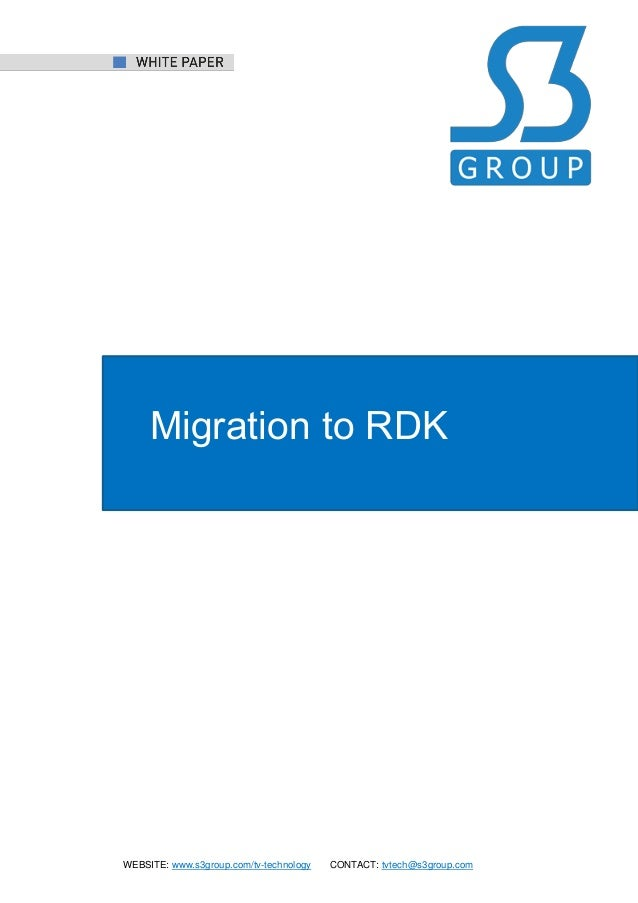 Migration to RDK