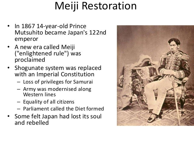 an introduction to the meiji constitution Meiji constitution: meiji constitution, constitution of japan from 1889 to 1947 after the meiji restoration (1868), japan's leaders sought to create a constitution.