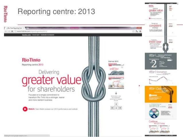 5  Reporting centre: 2013