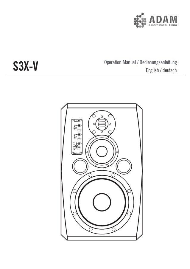 ADAM Audio S3X-V Orta Alan Aktif Monitör Kullanım Klavuzu