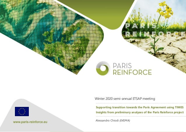 The PARIS REINFORCE project has received funding from the European Union's Horizon 2020 Research and Innovation Programme ...