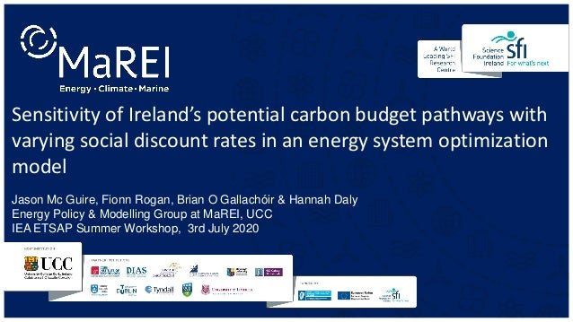 Sensitivity of Ireland's potential carbon budget pathways with varying social discount rates in an energy system optimizat...