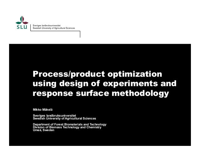 response surface methodology myers