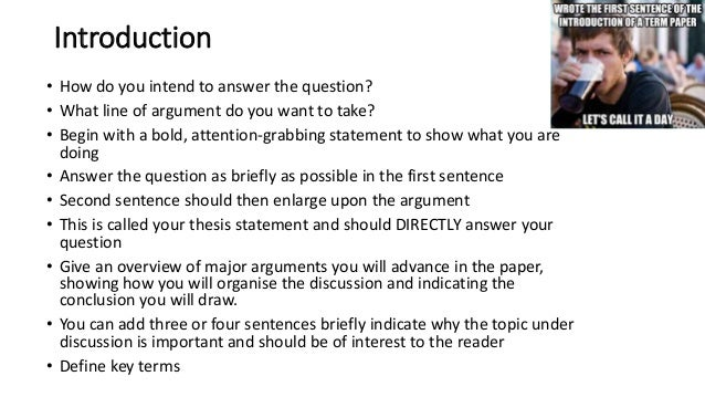 Choosing a topic for a research paper powerpoint