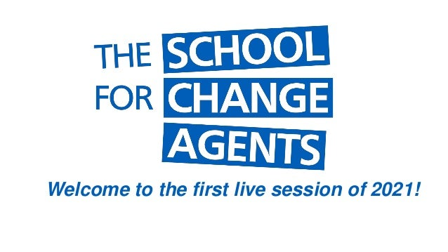 Welcome to the first live session of 2021!