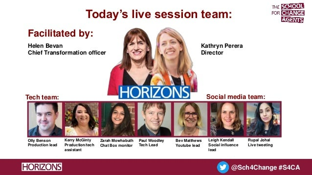 The School for Change Agents LIVE session 3 1 June 2021 Slide 3