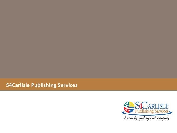 S4Carlisle Publishing Services