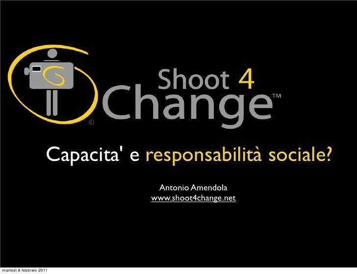 Capacita e responsabilità sociale?                                   Antonio Amendola                                  www...