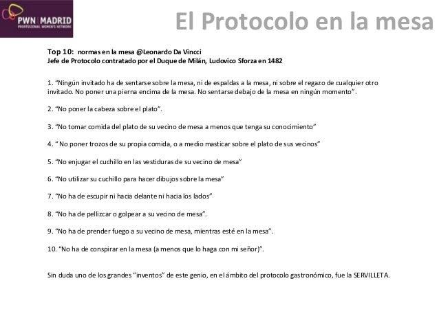 El protocolo en la mesa s4 mentoring - Protocolo cubiertos mesa ...