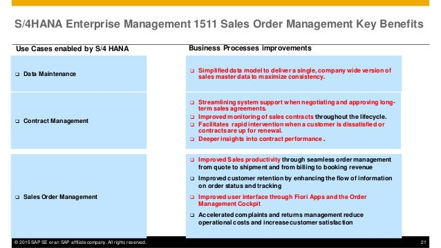 Innovations in Logistics with S4HANA Enterprise Management 1511