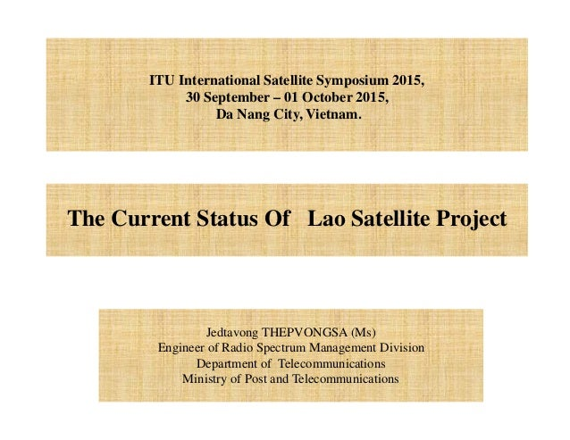 the current status of lao satellite project