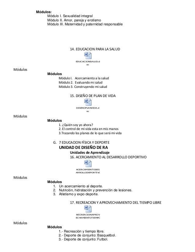 Módulos: Módulo I. Sexualidad integral Módulo II. Amor, pareja y erotismo Módulo III. Maternidad y paternidad responsable ...